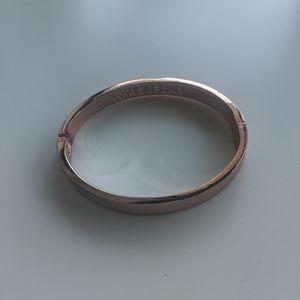 BaubleBar Rose Gold Bangle Bracelet